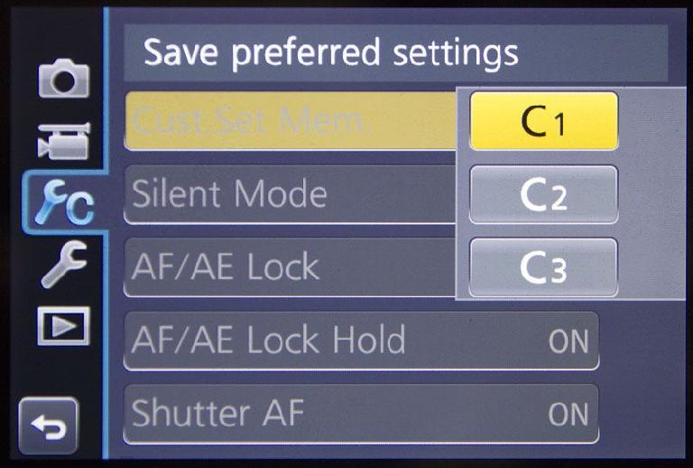 It's critical to save your custom settings to make sure you don't lose them