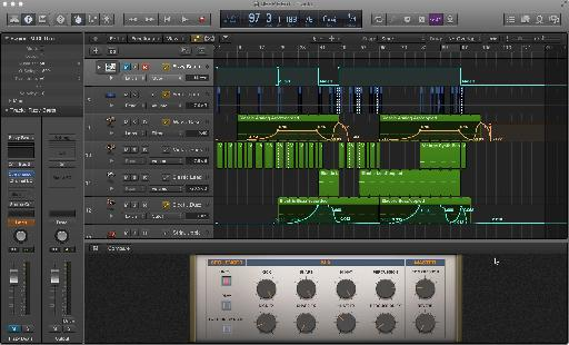 The new updated, darker GUI of Logic Pro X has that wow factor!