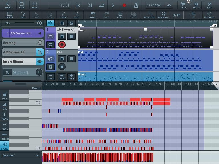 There's a fully featured MIDI editor…