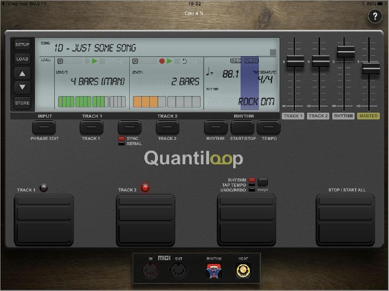 Quantiloop main screen