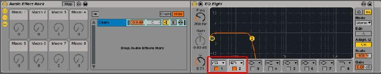 Setting Up EQ-8 Band Pass Filter