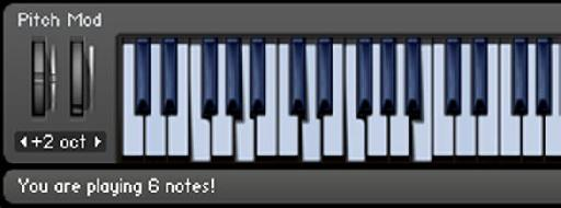 You are playing 6 notes