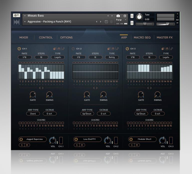 Heavyocity Mosaic Bass Arp page