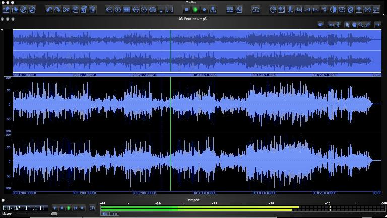 (Pic 1b) The same track is allowed to breathe and the dynamic range returns.