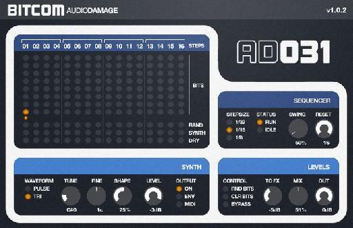 AudioDamage Bitcom (lowest bit only)