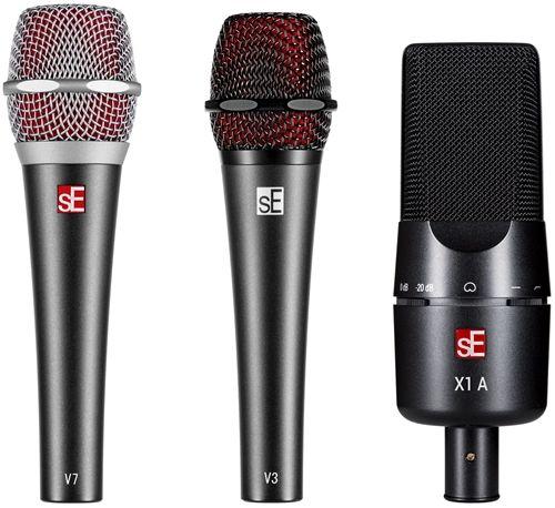 sE Electronics V7, V3 & X1 A microphones.