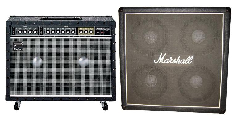 Fig 3 Guitar amp cabinets with multiple speakers that may benefit from more distant mic placement