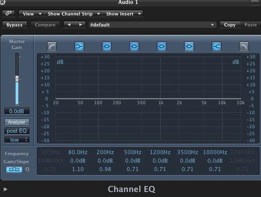 Logic's Channel EQ