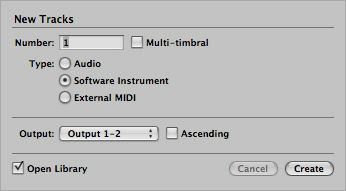 Create a Software Instrument Track