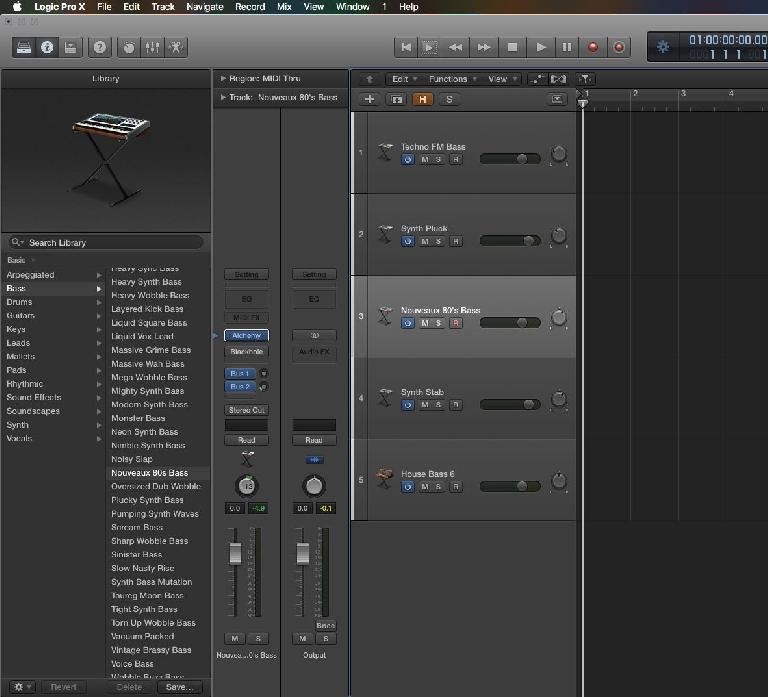 Choose Various Sounds/Software Instruments