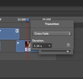 Edit transition