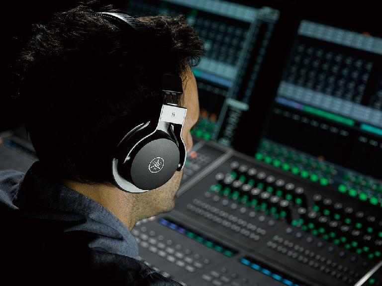 The Yamaha HPH-MT7 headphones in the studio.
