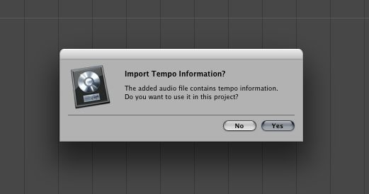 Logic asking if we want to use the imprinted tempo data