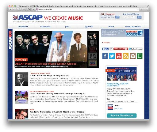 ASCAP is just one of the regional collection agencies : you'll need to be a member of the one that operates in your country.