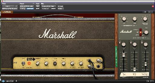 Marshall Plexi Super Lead 1959 Amp with channel strip.