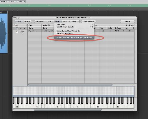 Read the loop setting from the audio file