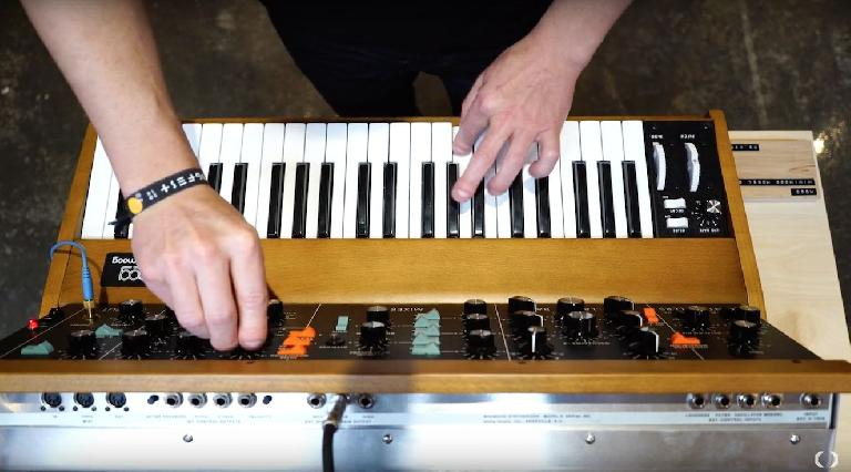 Celdeweller playing the new Moog MiniMoog Model D