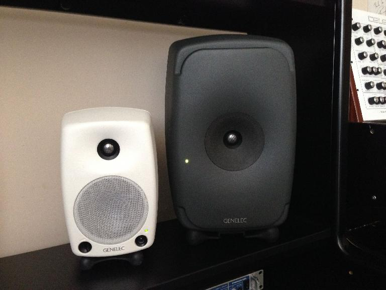 The 8351A SAM™ monitors are substantially larger than Genelec's smaller portable 8030A model.