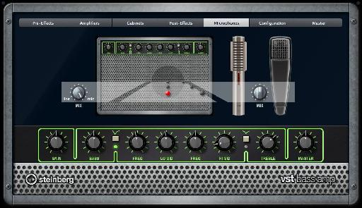 The VST Bass Amp plug-in.