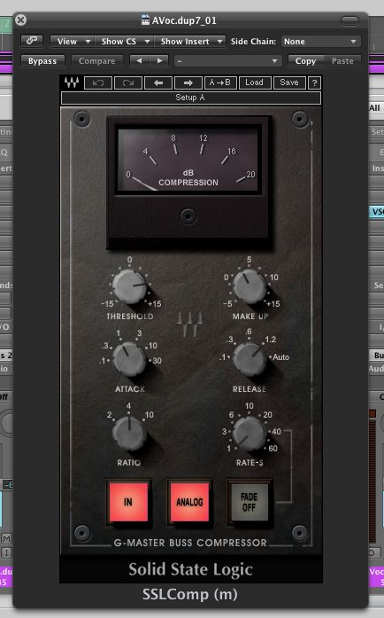 (Pic 4) The excellent Waves SSL Master Bus compressor.