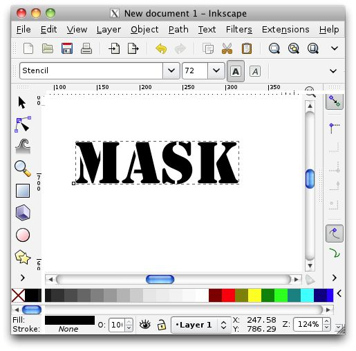 Creating the graphic in Inkscape