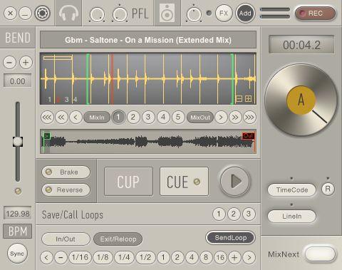 Looping in CuteDJ Pro.