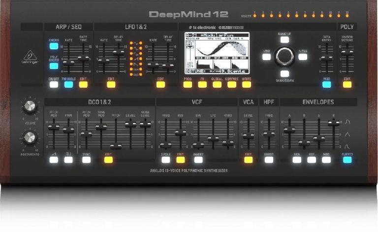 Behringer DeepMind12 12 voice polyphonic analog synthesizer desktop
