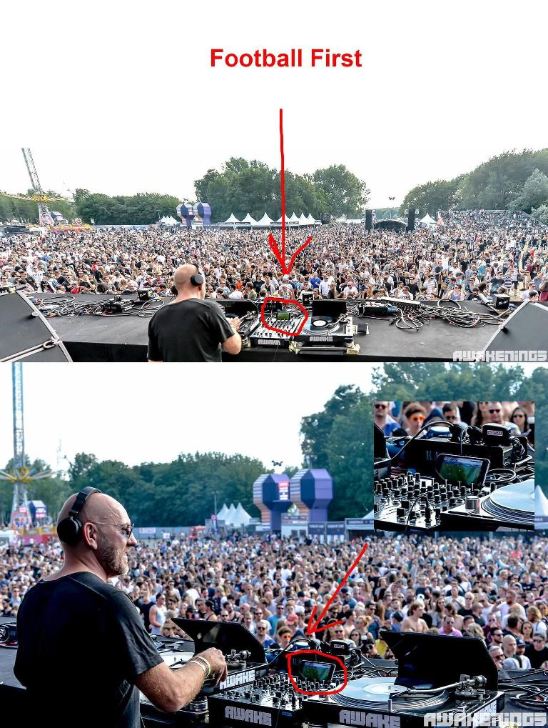 Sven Vath caught watching football on iPhone while DJing