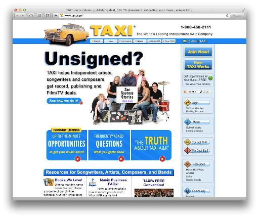 Taxi.com is one of the bigger sync websites, that lets you submit music on a per-job basis.