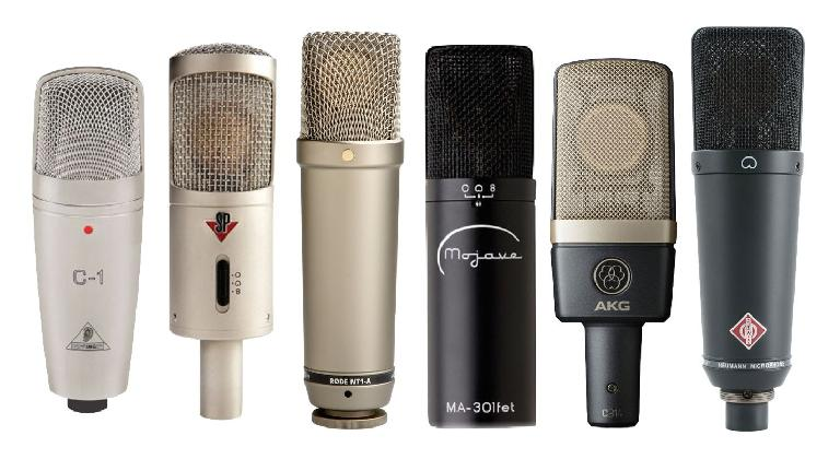 A variety of mics at various price points