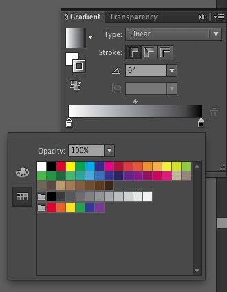 When you click on a gradient's color pot, you see this