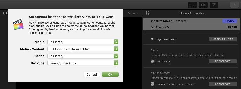 Change your library storage location, then consolidate the media, with these buttons here