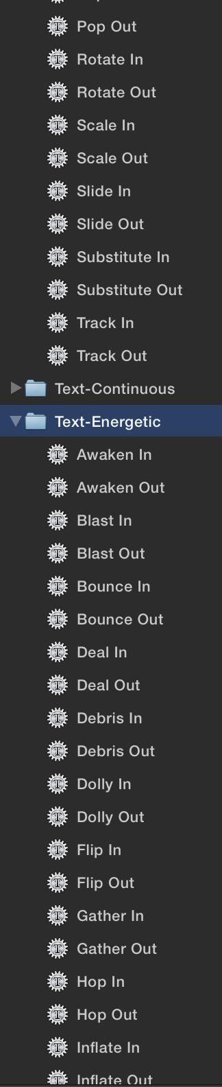 So many presets, all from Sequence Text.