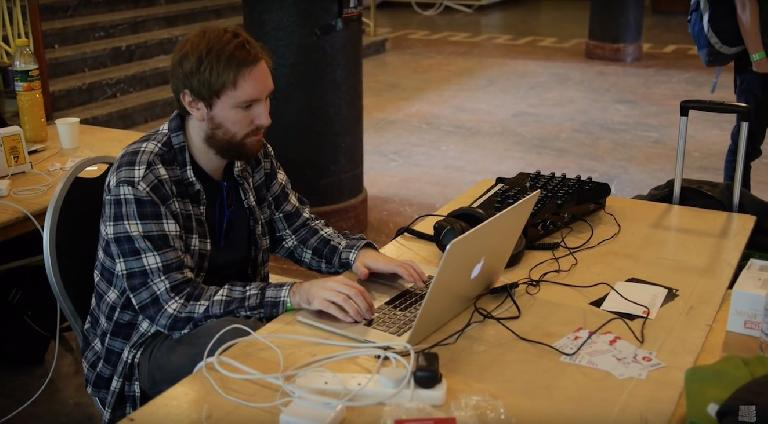 Liam won the Element14 music hack contest prior to MTF, so we assume he's there checking his email?