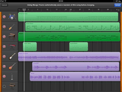 GB for iPad merge tracks