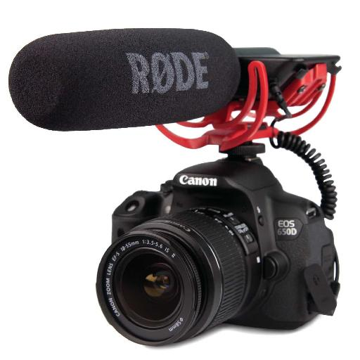 Using an external microphone will always give better results when shooting video.