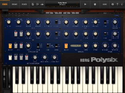 Pic 1 – iPolysix Synth Interface