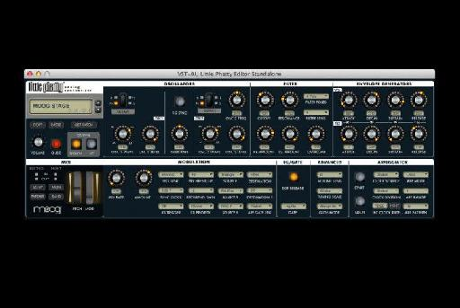 (Pic 3b) Moog's Little Phatty Editor Plug-in.