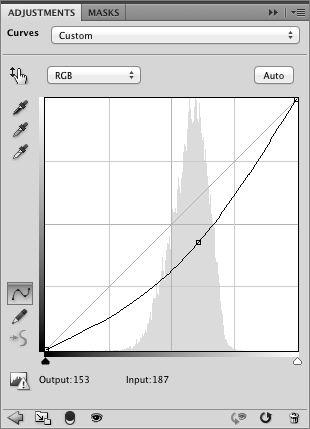 darken curves adjustment layer