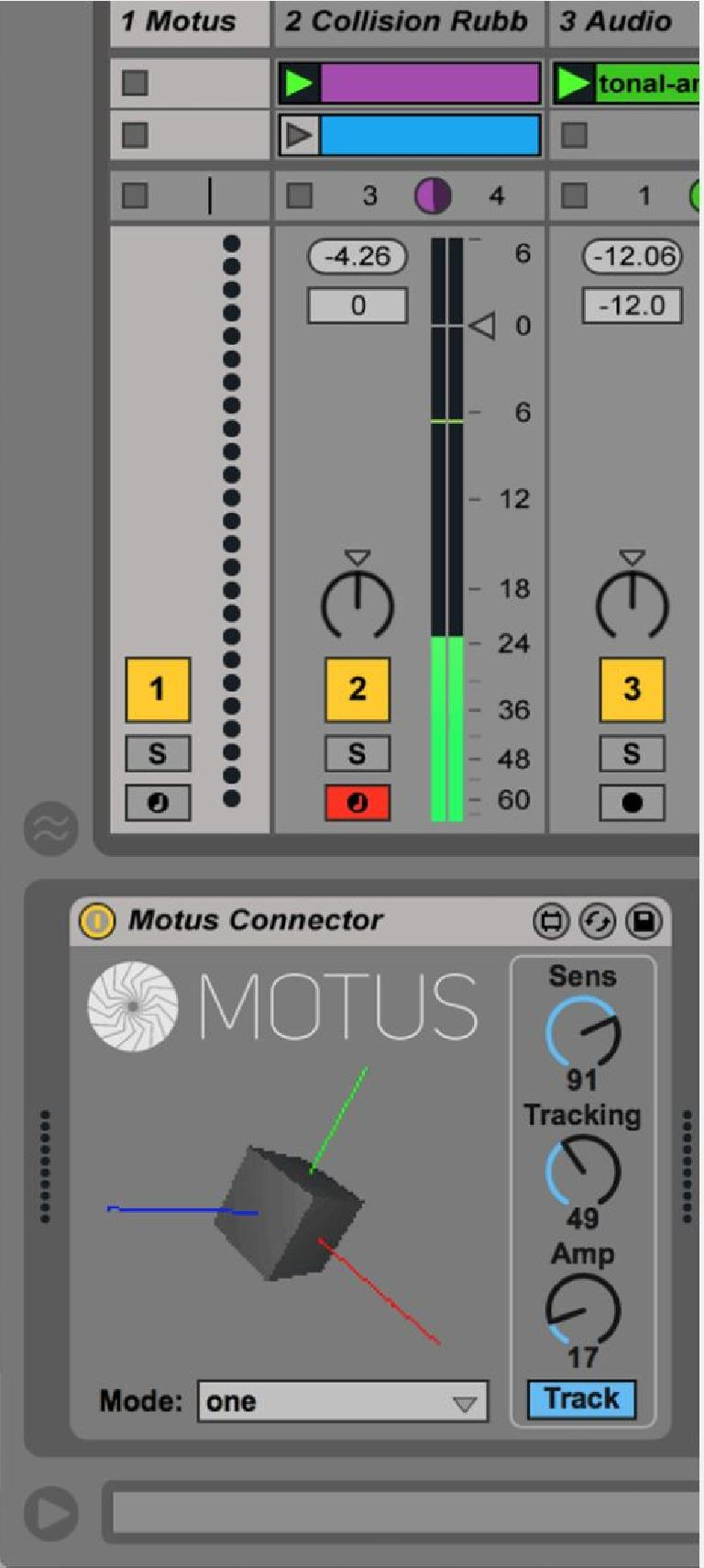 Motus M4L device in Live 9.