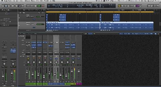 Mixing the new layers in Logic Pro X's mixer