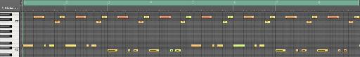 1st 8 bars in the Piano Roll