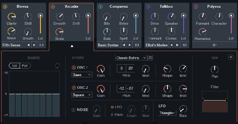Advanced Vocoder Controls