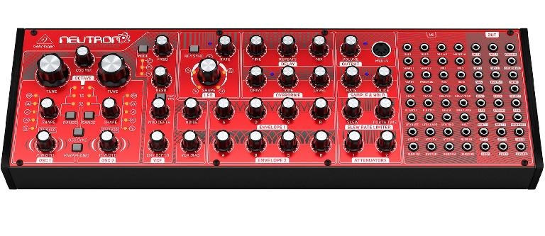 Behringer Neutron semi-modular analog synthesizer.