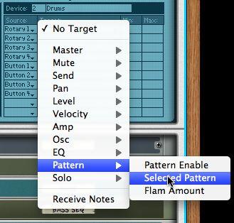 Target Pattern > Selected Pattern