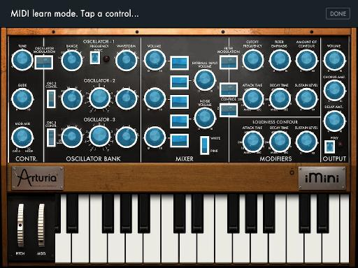 There's full MIDI in and MIDI learn, with a familiar tap-to-assign system.