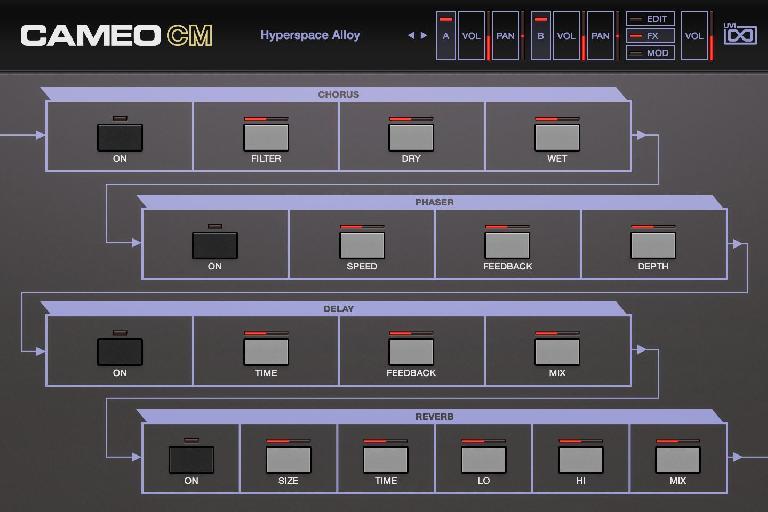 Casio Cameo CM Effects screen
