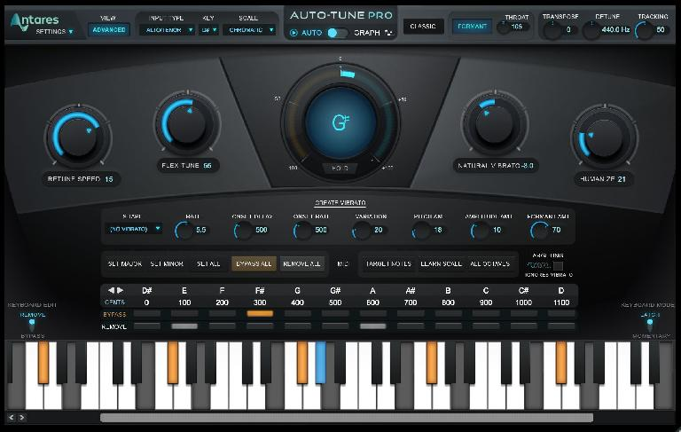 Auto-Tune Pro Advanced mode.