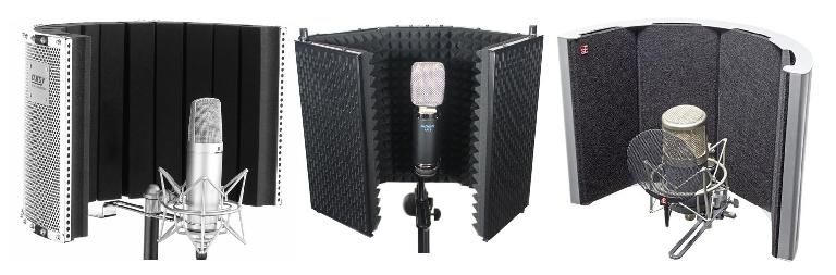 Some commercial microphone baffles