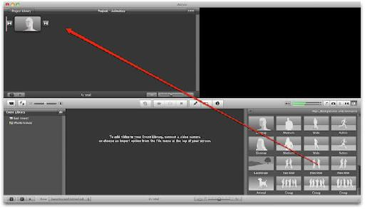 Dragging animatics to the Edit Project area